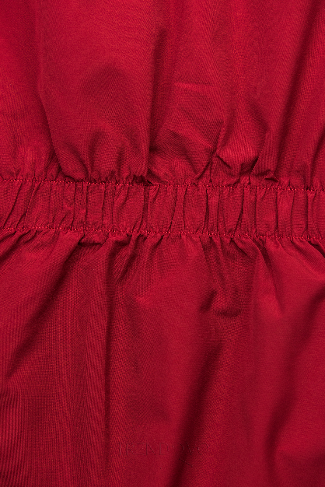 Červená obojstranná bunda s pepito vzorom
