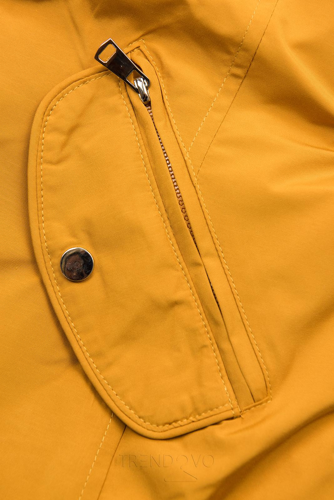 Žltá obojstranná bunda s pepito vzorom