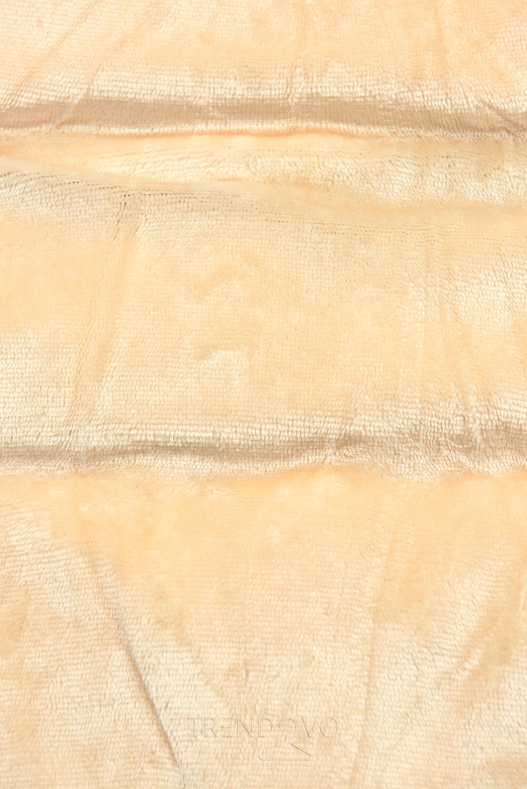 Čierna-béžová zimná bunda