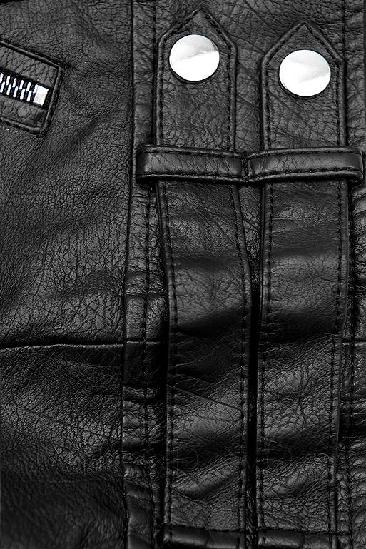 Čierna motorkárska bunda