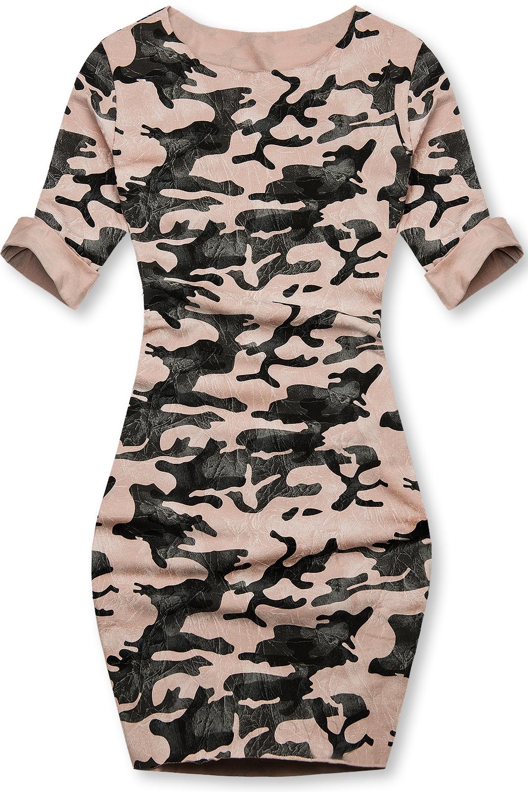 Ružové ležérne army šaty