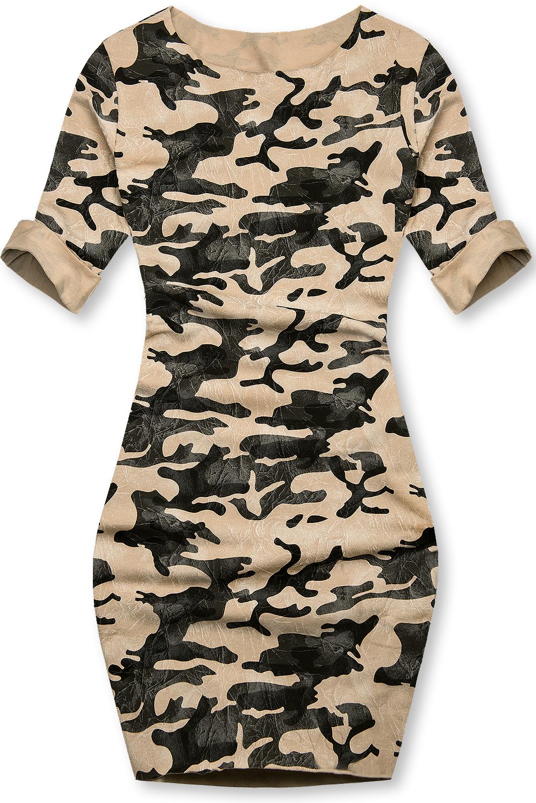 Hnedé ležérne army šaty