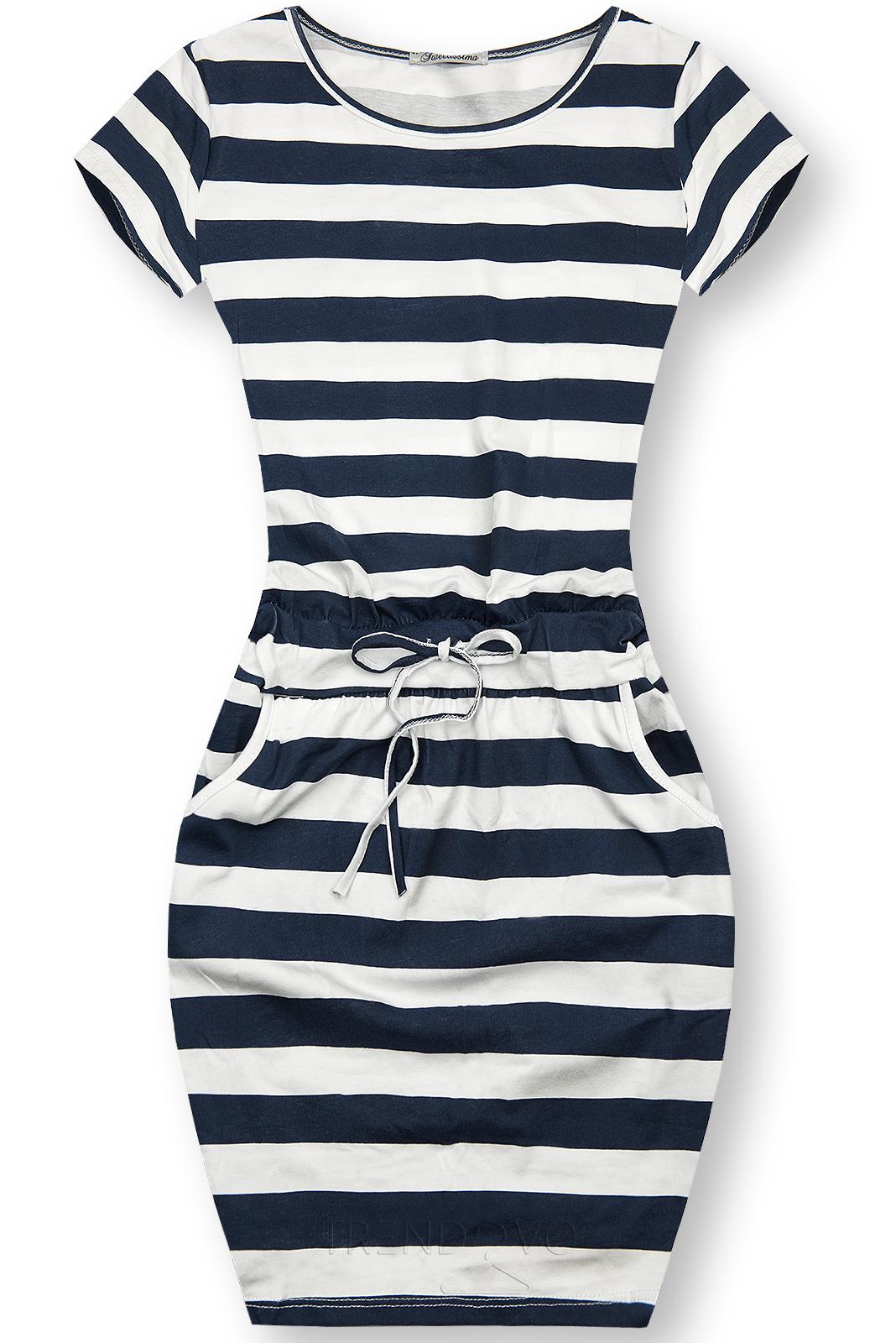 Pruhované bavlnené šaty X.