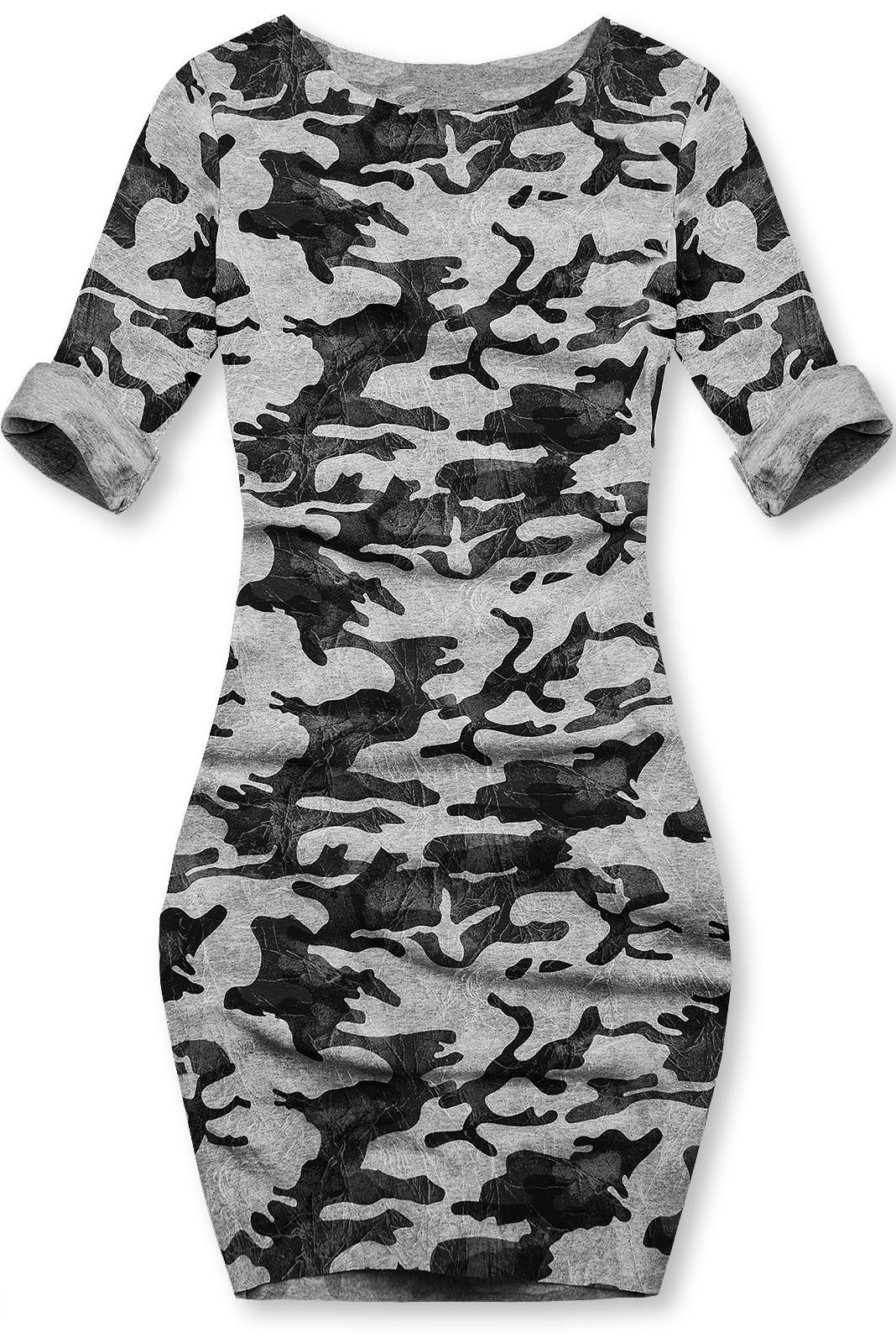 Sivé ležérne army šaty