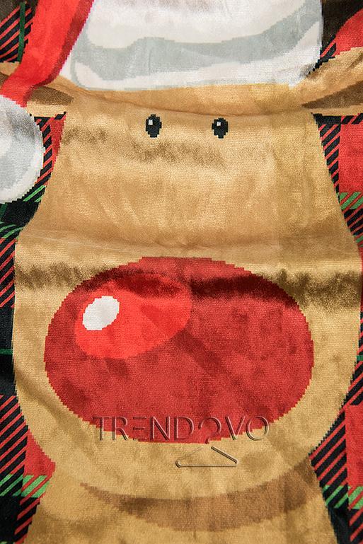 Zamatové šaty s károvanou potlačou
