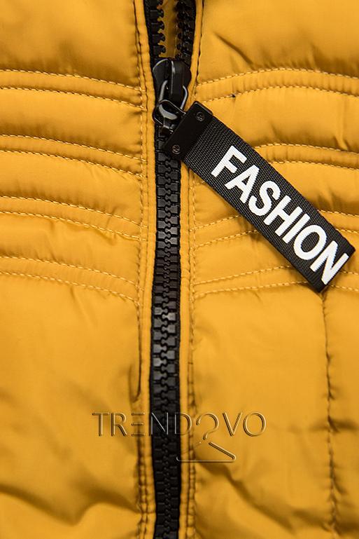 Žltá zimná bunda FASHION
