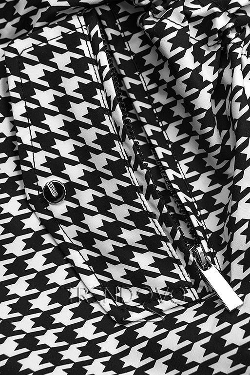 Prechodná parka s pepito vzorom/čierna