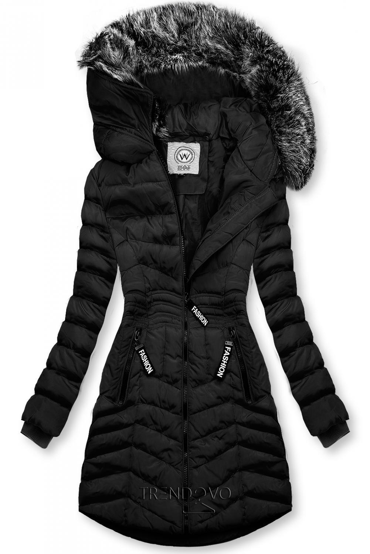 Čierna zimná bunda FASHION