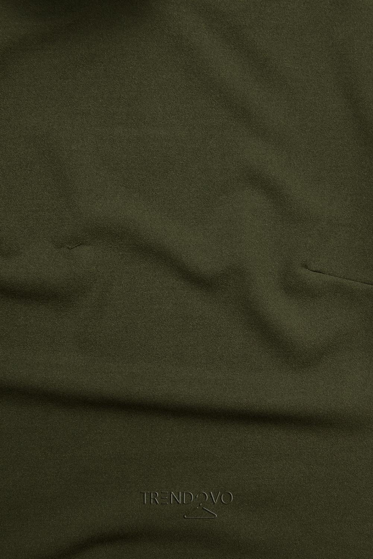 Khaki top s dlhými rukávmi