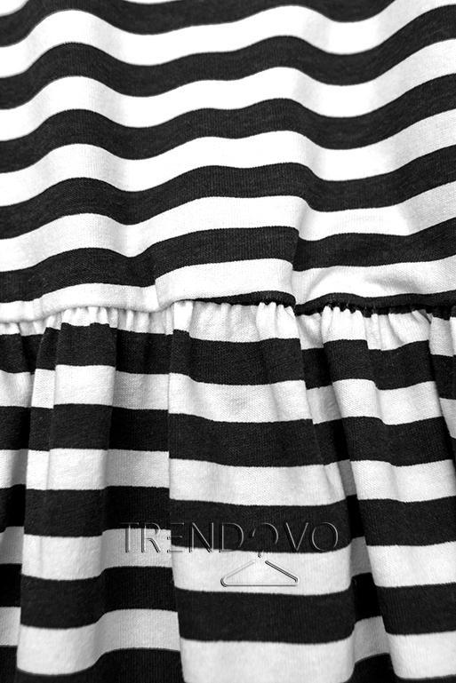 Čierno-biele voľné pruhované šaty II.