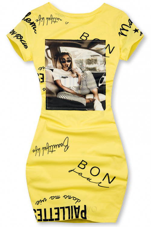 Žlté šaty Bonjour