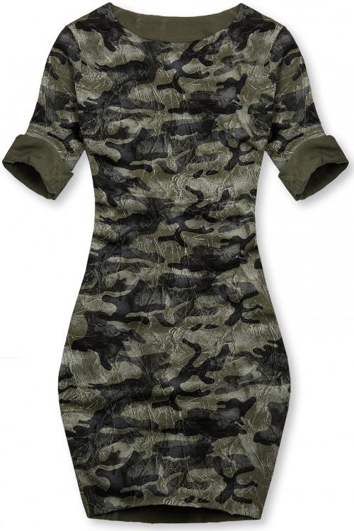 Khaki ležérne army šaty