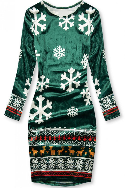 Zelené šaty SNOW