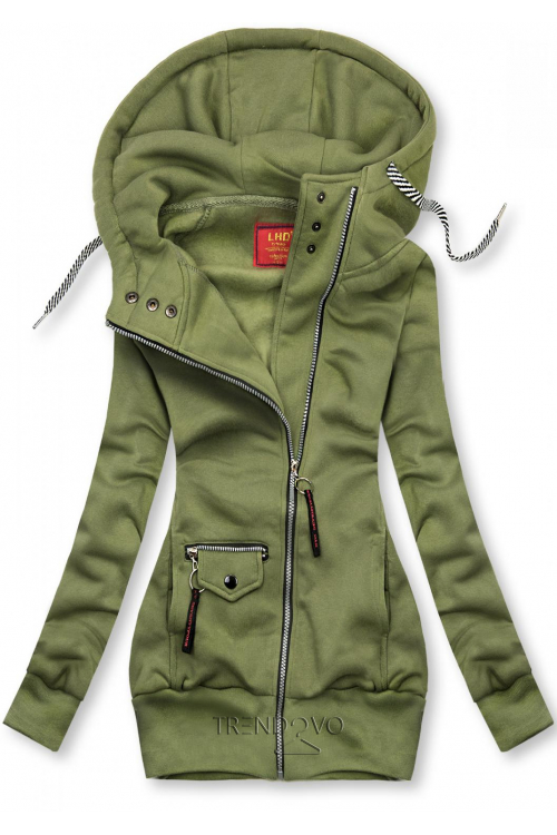 Zelená mikina na zips
