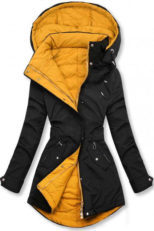 Čierna obojstranná jesenná bunda