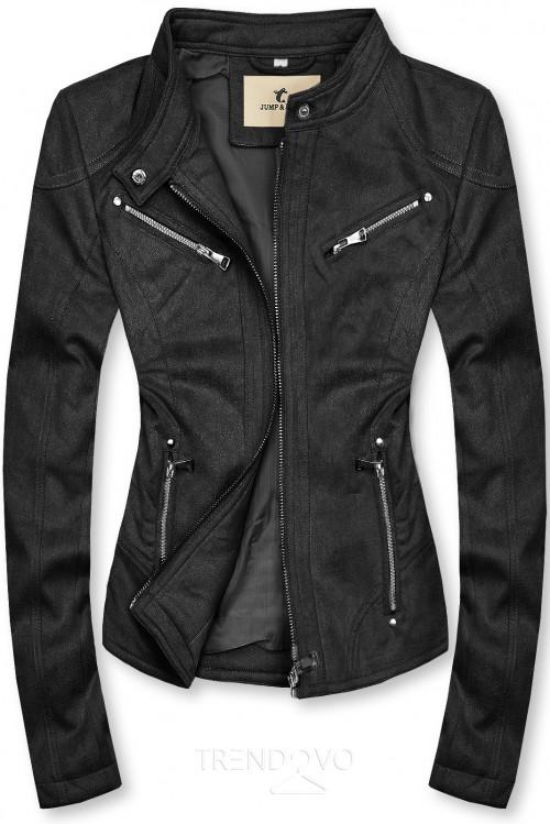 Čierna semišová bunda