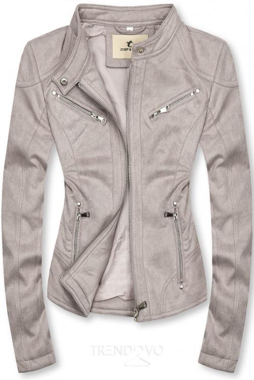 Sivá semišová bunda