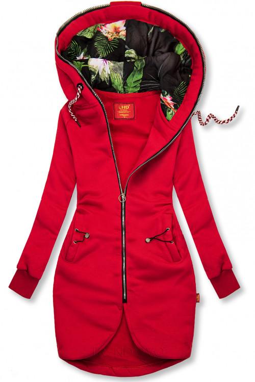 Červená dlhá mikina