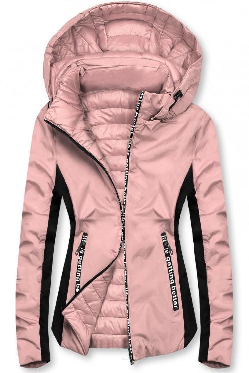 Ružová športová obojstranná bunda