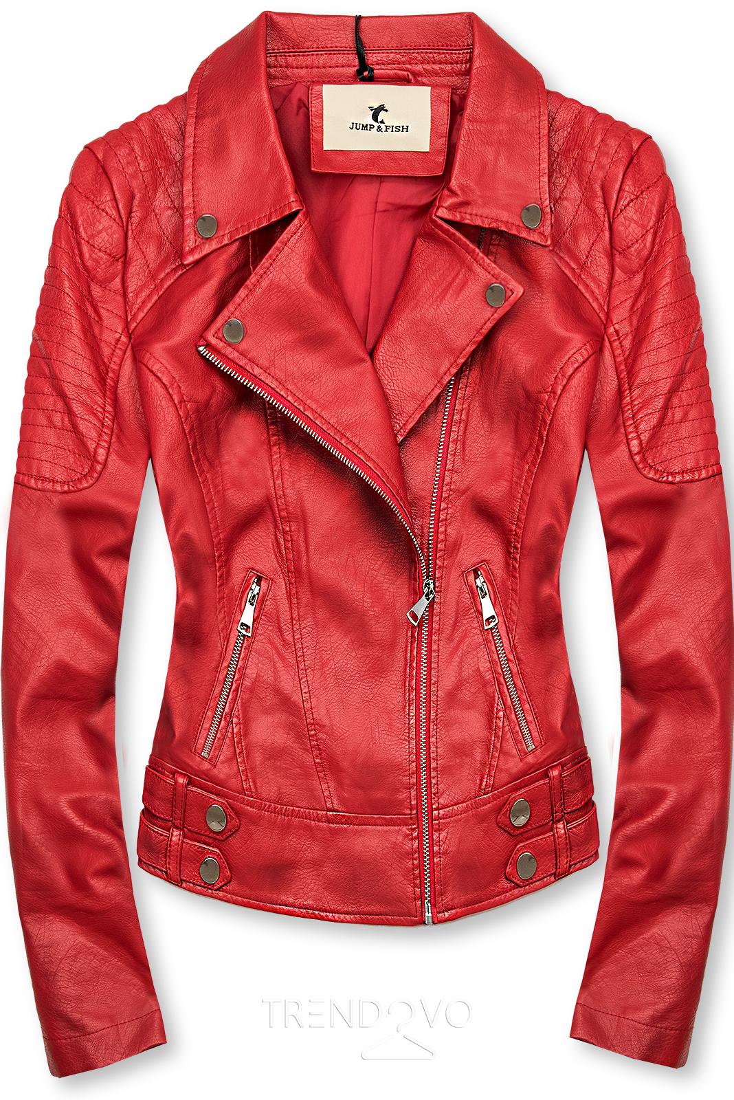 Červená motorkárska bunda
