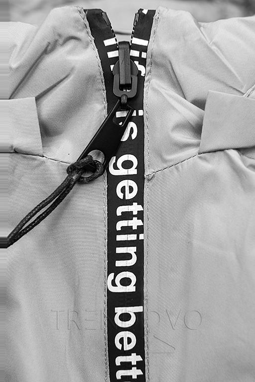 Sivá športová obojstranná bunda