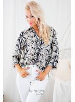Béžová košeľa so zvieracím vzorom