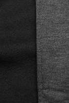 Grafitová predĺžená mikina na zips