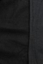 Čierna predĺžená mikina na zips