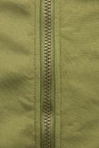 Khaki mikina so vzorovanou kapucňou