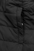 Khaki/čierna obojstranná jesenná bunda