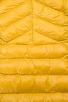 Žltá/čierna lesklá bunda s opaskom