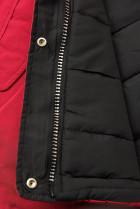 Zimná parka obojstranná červená/čierna