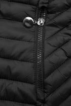 Čierna prešívaná prechodná bunda