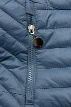 Jeans modrá prešívaná prechodná bunda