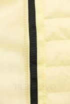 Žltá prešívaná lesklá bunda