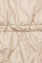 Béžová prešívaná bunda bez kapucne