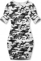 Biele ležérne army šaty