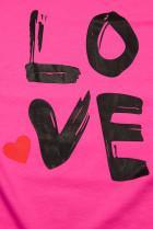 Tunika s potlačou LOVE fuchsiová