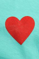 Tunika s potlačou LOVE tyrkysová