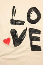 Tunika s potlačou LOVE béžová