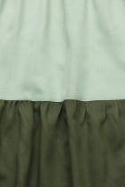 Letné šaty z viskózy biela/mätová/zelená