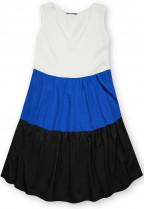 Letné šaty z viskózy biela/modrá/čierna