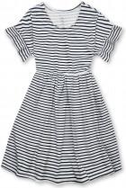 Modro-biele voľné pruhované šaty III.
