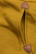 Mustard mikina s dvojcestným zipsom