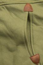 Khaki mikina s dvojcestným zipsom
