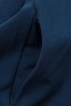Tmavomodré šaty s nášivkou SUMMER