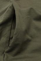 Khaki šaty s nášivkou SUMMER