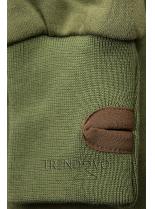 Zelená predĺžená mikina od LHD
