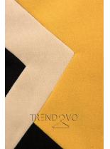 Predĺžená mikina čierna/žltá/béžová