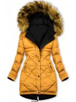 Čierno-žltá obojstranná zimná bunda